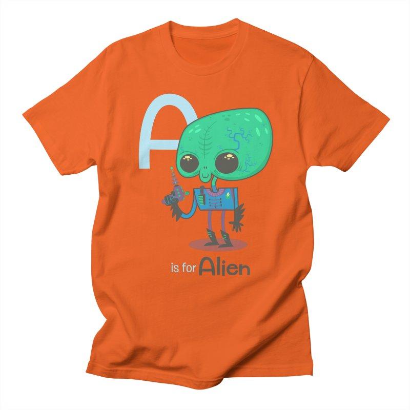 A is for Alien Men's Regular T-Shirt by Hazy Dell Press