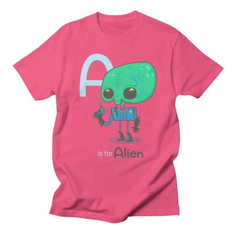 A is for Alien Men's T-shirt by Hazy Dell Press