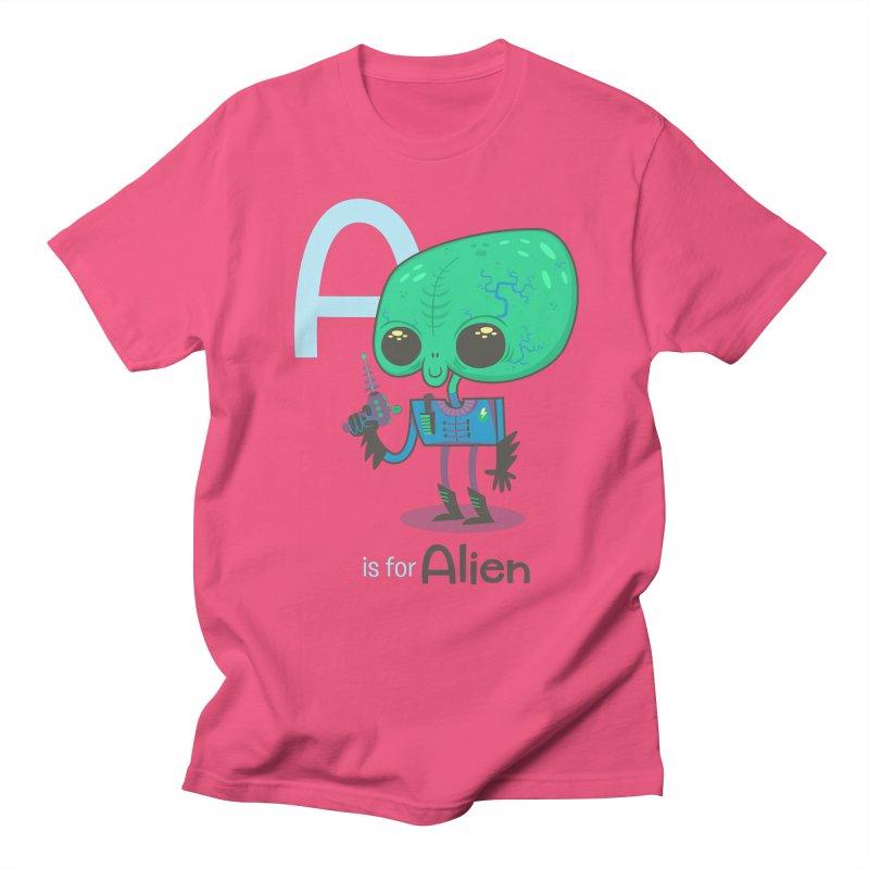 A is for Alien Women's Unisex T-Shirt by Hazy Dell Press