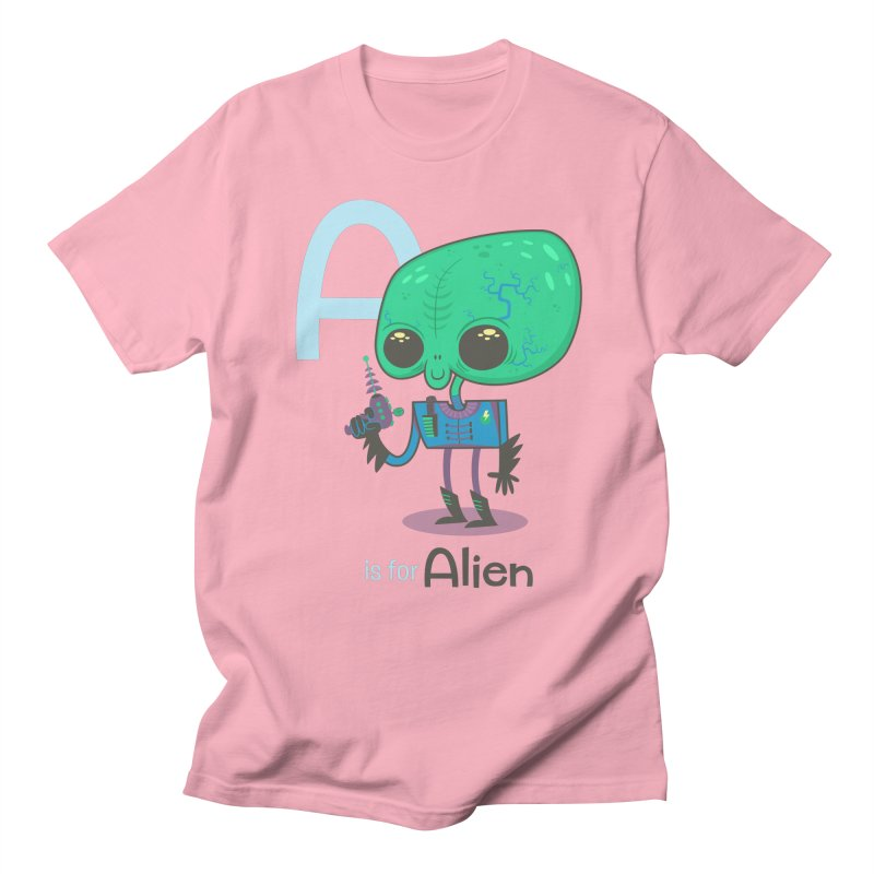 A is for Alien Women's Regular Unisex T-Shirt by Hazy Dell Press