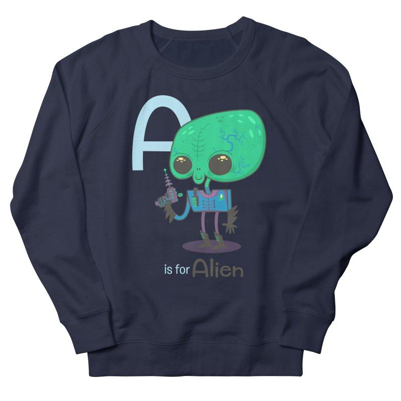 A is for Alien Women's Sweatshirt by Hazy Dell Press