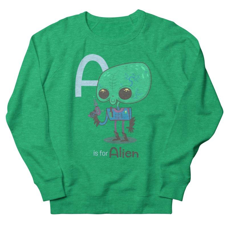 A is for Alien Men's Sweatshirt by Hazy Dell Press