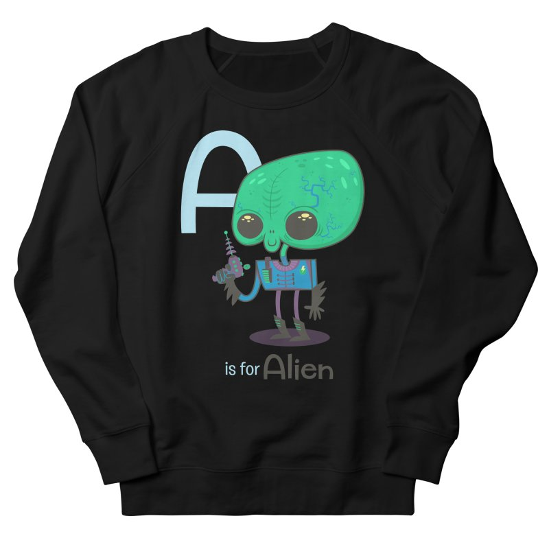 A is for Alien Men's French Terry Sweatshirt by Hazy Dell Press