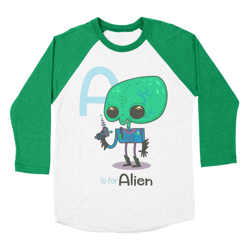 A is for Alien Women's Baseball Triblend T-Shirt by Hazy Dell Press