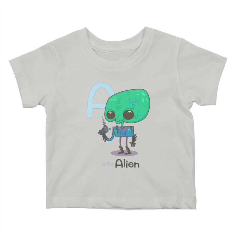 A is for Alien Kids Baby T-Shirt by Hazy Dell Press