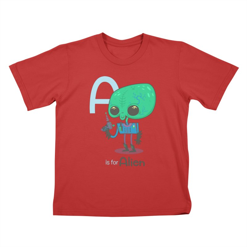 A is for Alien Kids T-Shirt by Hazy Dell Press
