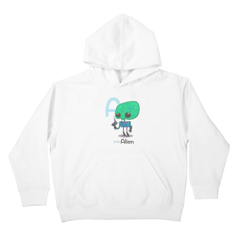 A is for Alien Kids Pullover Hoody by Hazy Dell Press