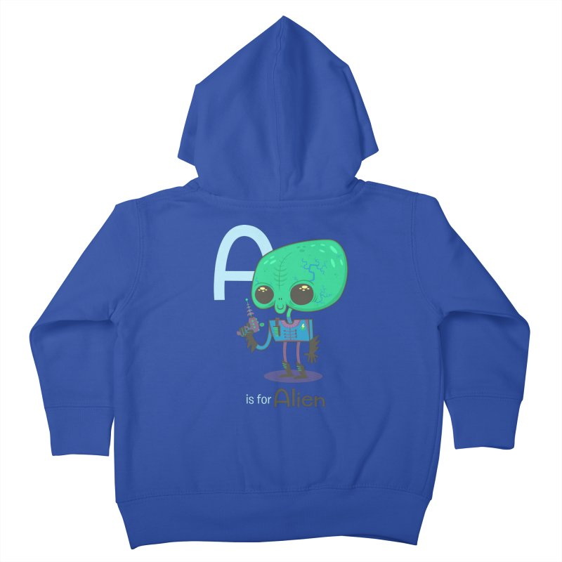 A is for Alien Kids Toddler Zip-Up Hoody by Hazy Dell Press