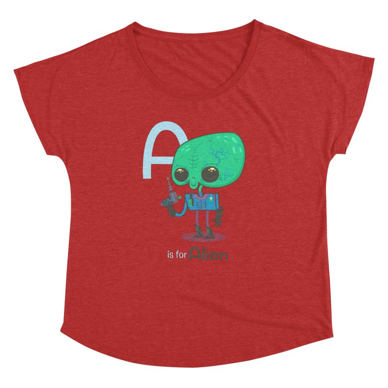 A is for Alien Women's Dolman by Hazy Dell Press