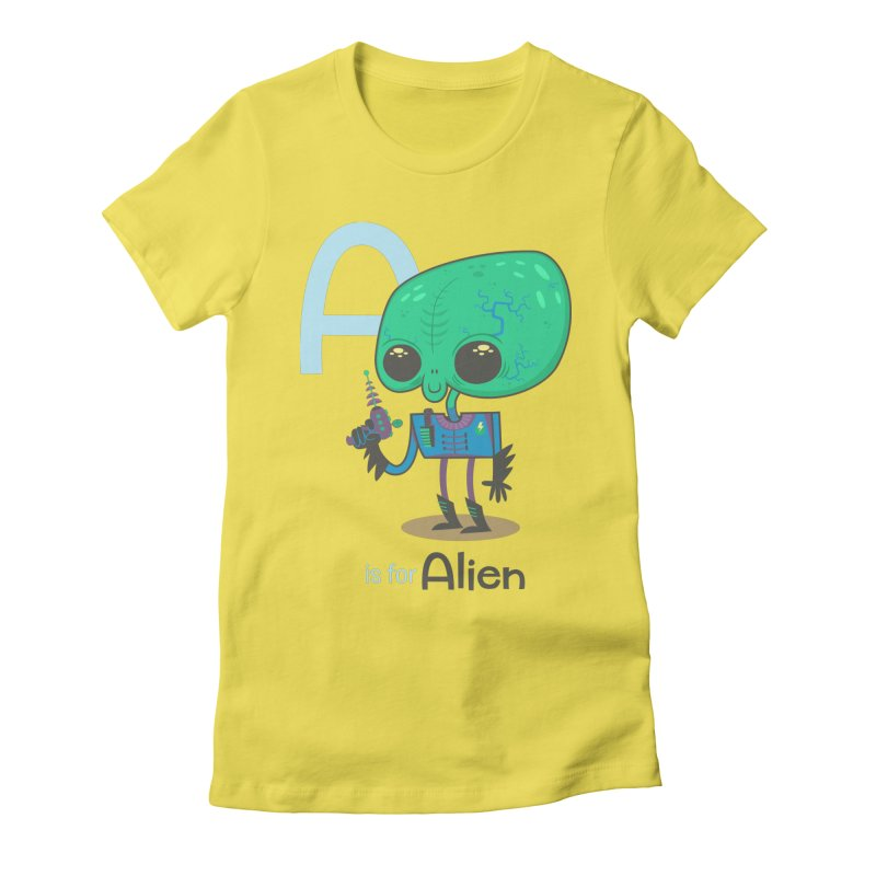 A is for Alien Women's T-Shirt by Hazy Dell Press