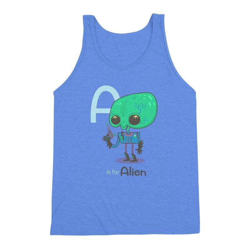A is for Alien Men's Triblend Tank by Hazy Dell Press