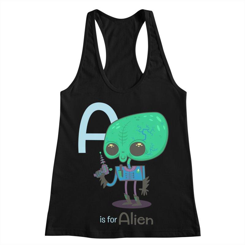A is for Alien Women's Tank by Hazy Dell Press