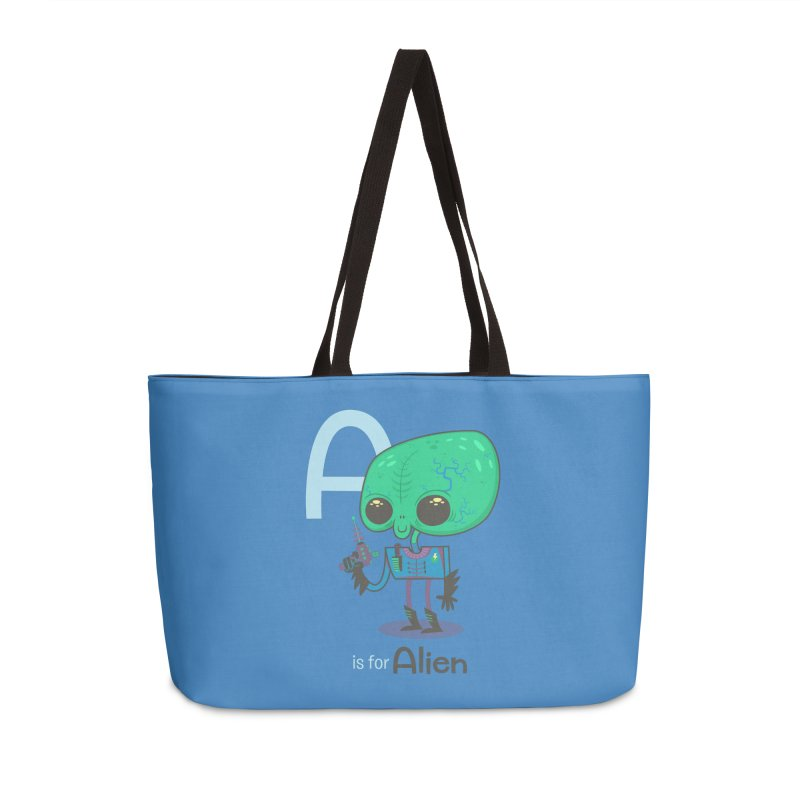 A is for Alien Accessories Weekender Bag Bag by Hazy Dell Press