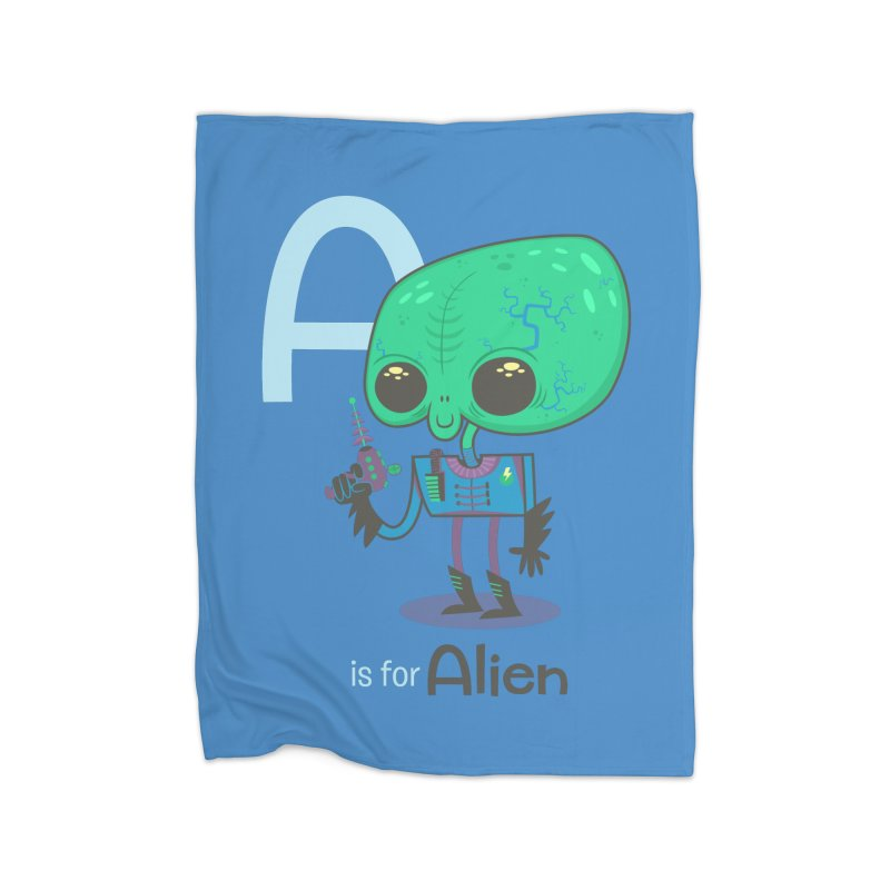 A is for Alien Home Blanket by Hazy Dell Press