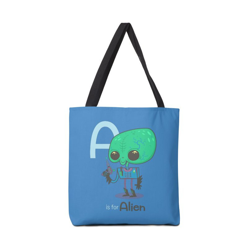 A is for Alien Accessories Tote Bag Bag by Hazy Dell Press