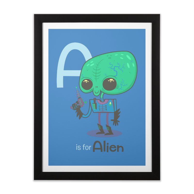 A is for Alien Home Framed Fine Art Print by Hazy Dell Press