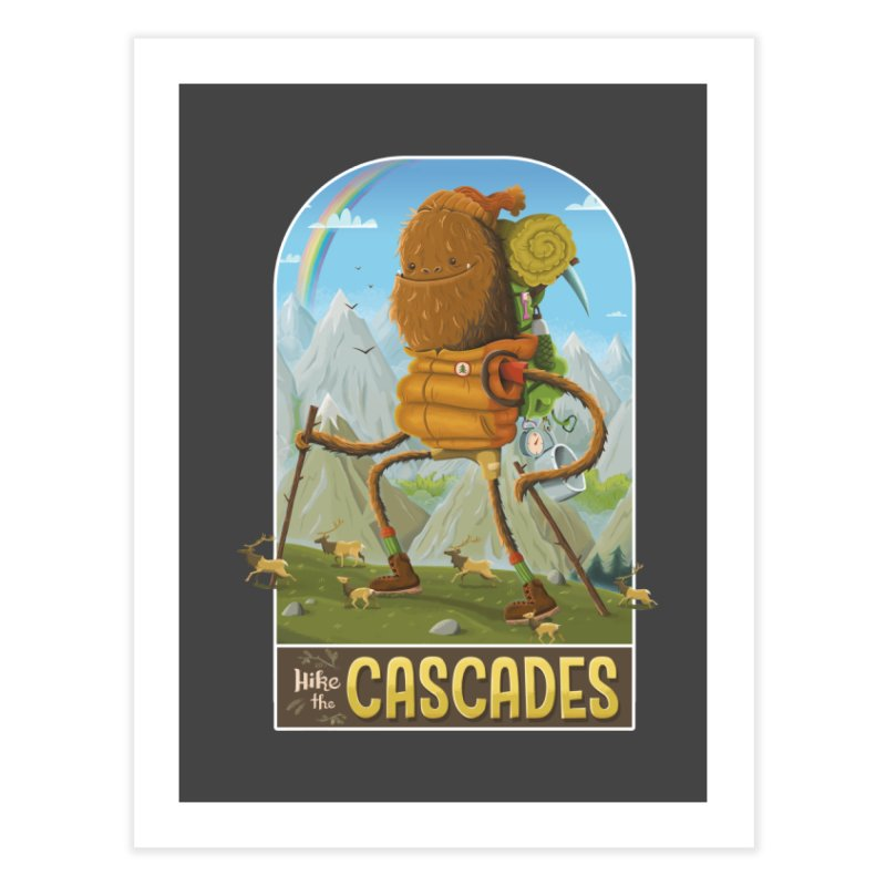 Hike the Cascades Home Fine Art Print by Hazy Dell Press