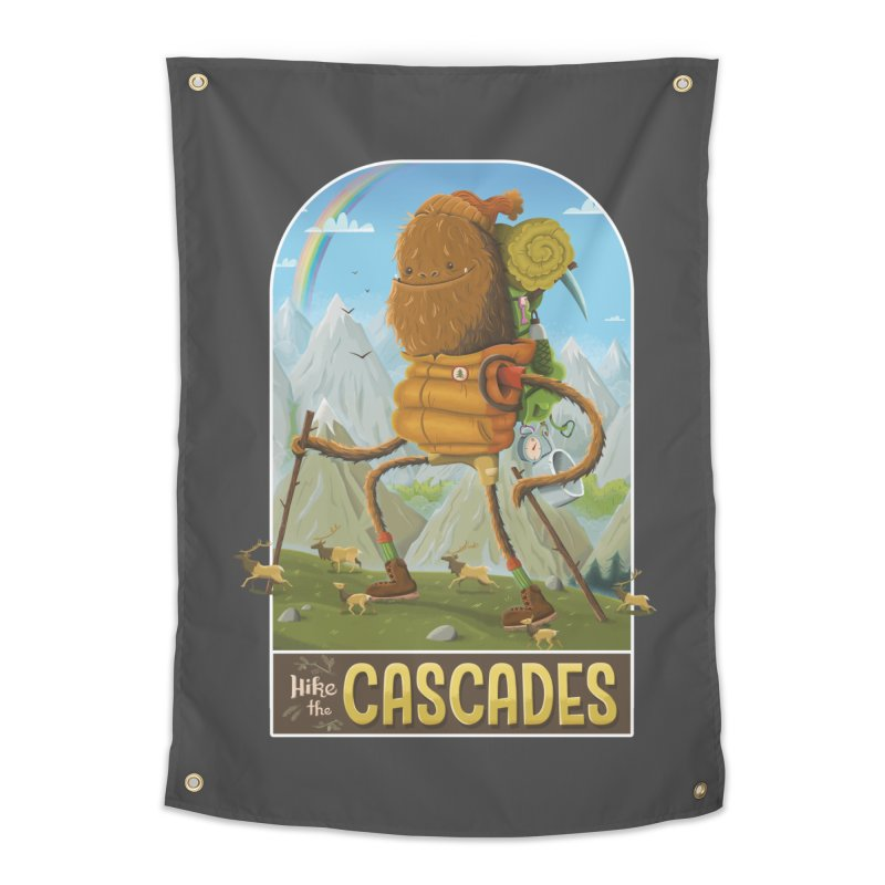 Hike the Cascades Home Tapestry by Hazy Dell Press