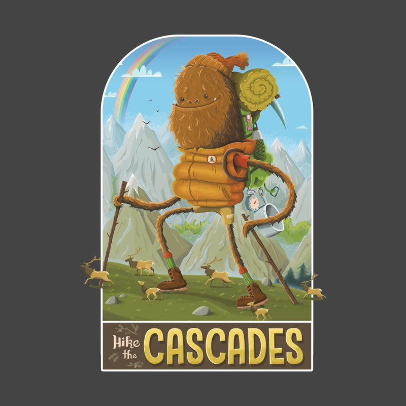 Hike the Cascades Men's Longsleeve T-Shirt by Hazy Dell Press