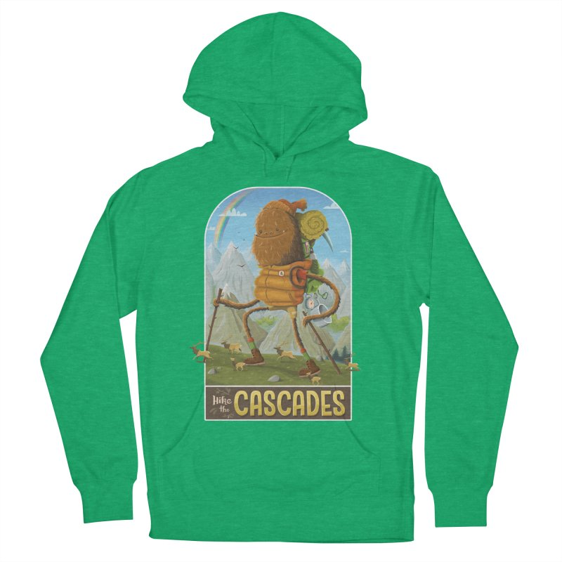 Hike the Cascades Women's French Terry Pullover Hoody by Hazy Dell Press