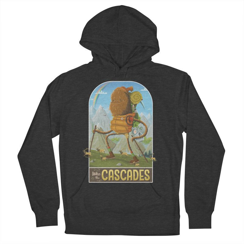 Hike the Cascades Men's French Terry Pullover Hoody by Hazy Dell Press