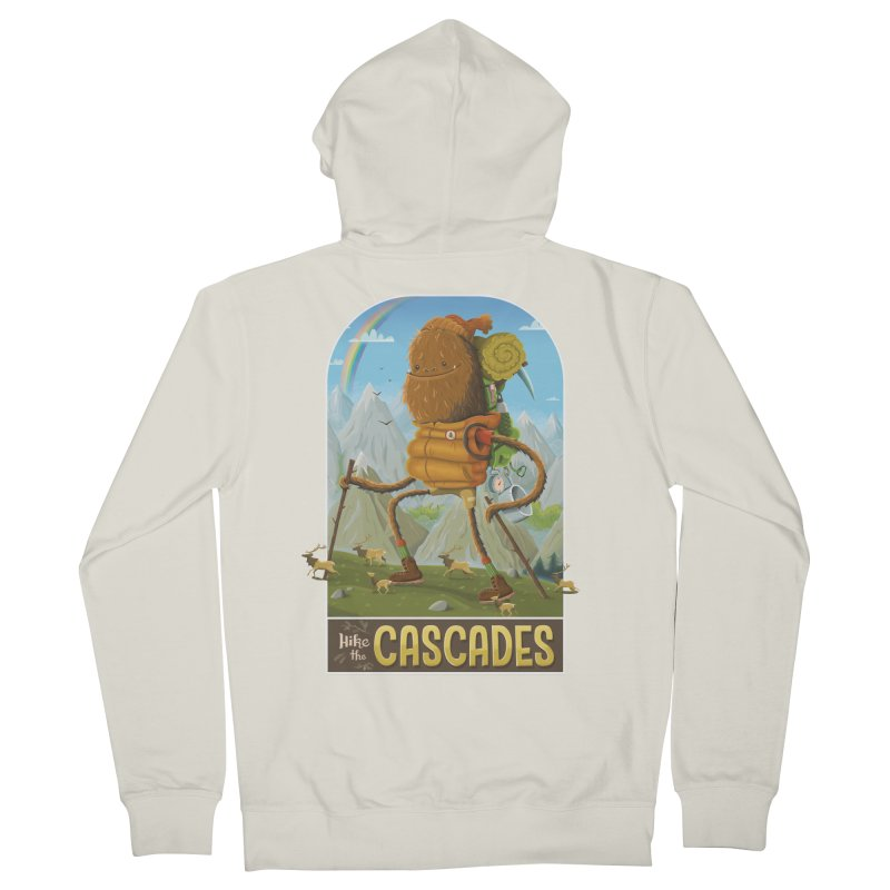 Hike the Cascades Men's French Terry Zip-Up Hoody by Hazy Dell Press
