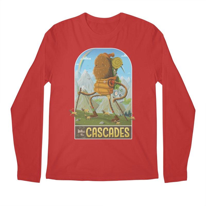Hike the Cascades Men's Regular Longsleeve T-Shirt by Hazy Dell Press