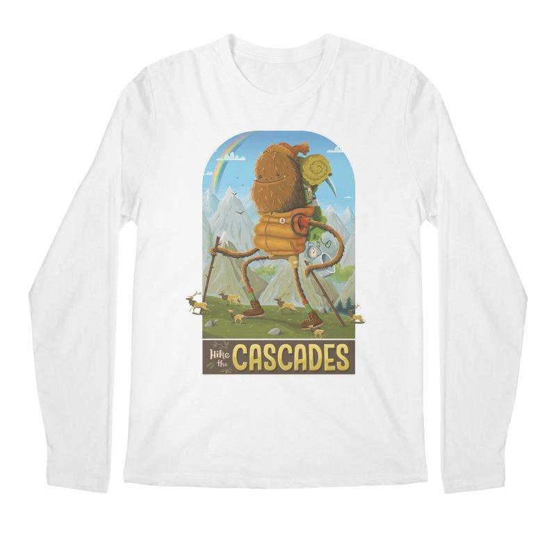 Hike the Cascades Men's Longsleeve T-Shirt by Hazy Dell Press