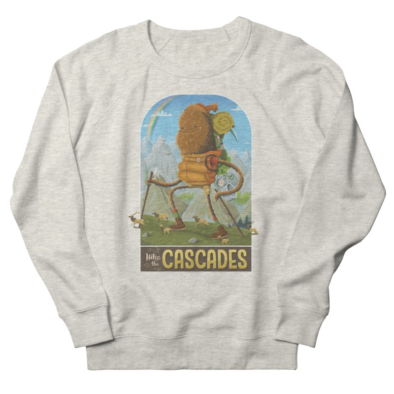 Hike the Cascades Women's French Terry Sweatshirt by Hazy Dell Press