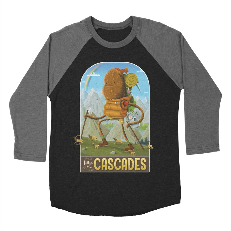 Hike the Cascades Men's Baseball Triblend T-Shirt by Hazy Dell Press