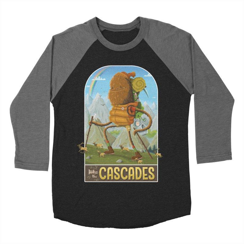 Hike the Cascades Men's Baseball Triblend Longsleeve T-Shirt by Hazy Dell Press