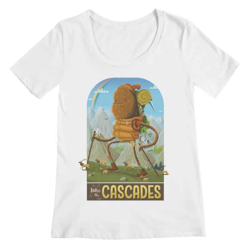 Hike the Cascades Women's Scoopneck by Hazy Dell Press