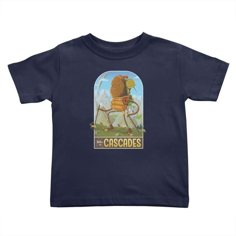 Hike the Cascades Kids Toddler T-Shirt by Hazy Dell Press