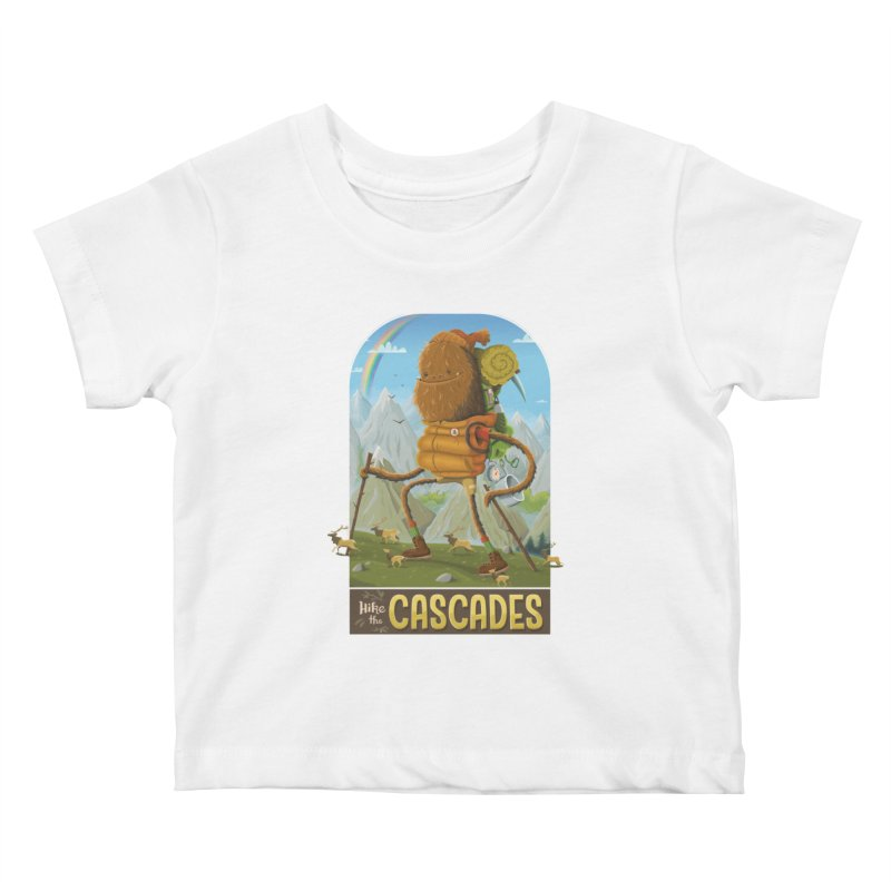 Hike the Cascades Kids Baby T-Shirt by Hazy Dell Press