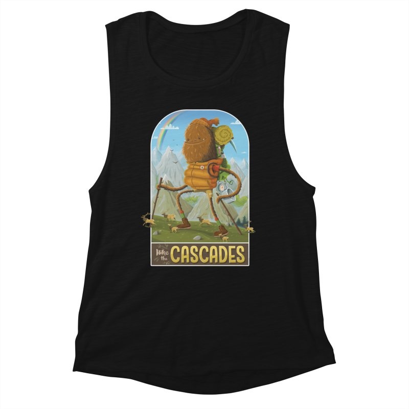 Hike the Cascades Women's Muscle Tank by Hazy Dell Press