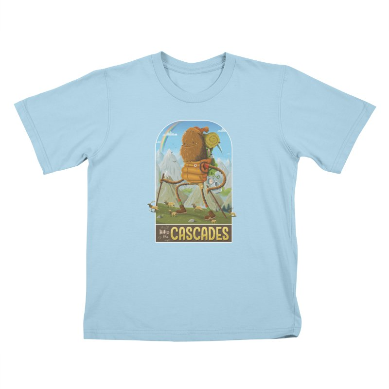 Hike the Cascades Kids T-Shirt by Hazy Dell Press