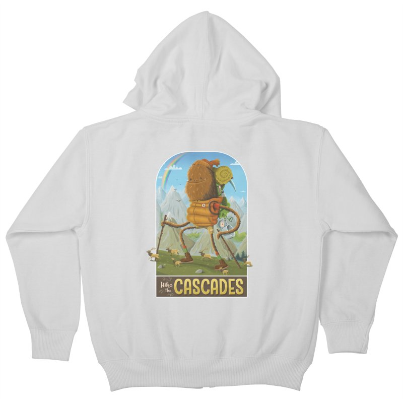 Hike the Cascades Kids Zip-Up Hoody by Hazy Dell Press