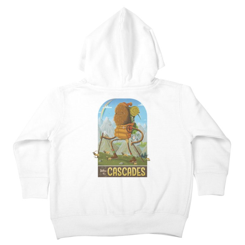 Hike the Cascades Kids Toddler Zip-Up Hoody by Hazy Dell Press