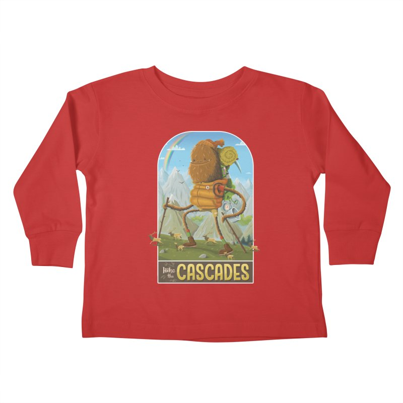 Hike the Cascades Kids Toddler Longsleeve T-Shirt by Hazy Dell Press