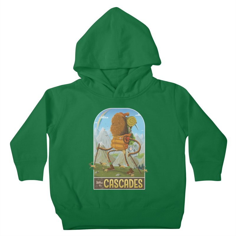 Hike the Cascades Kids Toddler Pullover Hoody by Hazy Dell Press