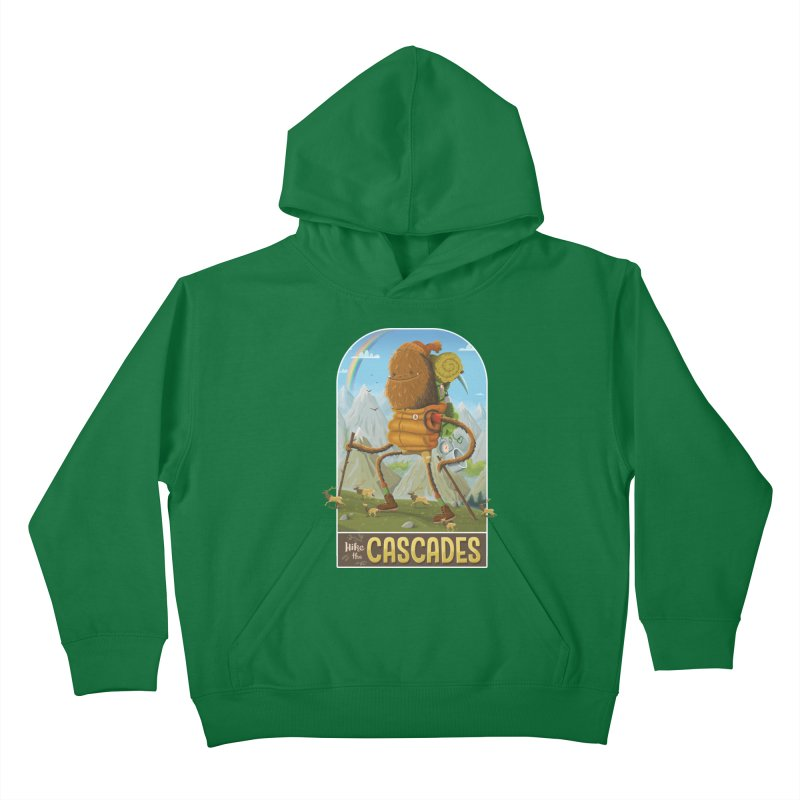 Hike the Cascades Kids Pullover Hoody by Hazy Dell Press