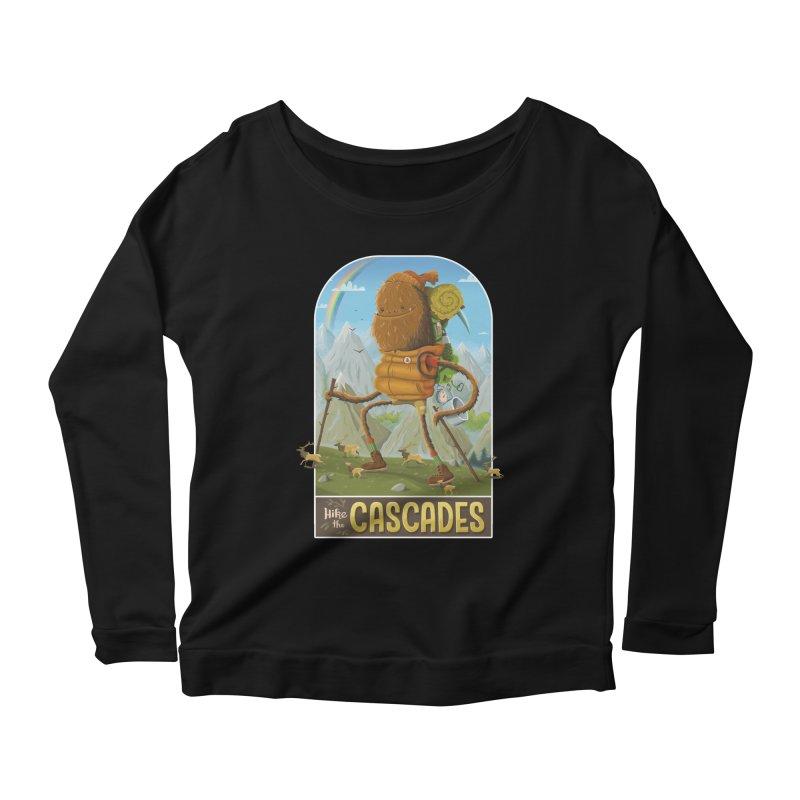 Hike the Cascades Women's Scoop Neck Longsleeve T-Shirt by Hazy Dell Press
