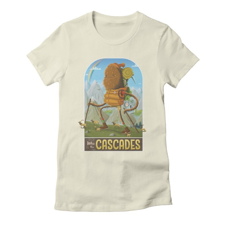 Hike the Cascades Women's Fitted T-Shirt by Hazy Dell Press
