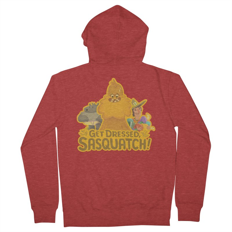 Get Dressed, Sasquatch! Men's Zip-Up Hoody by Hazy Dell Press