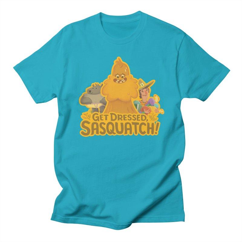 Get Dressed, Sasquatch! Men's Regular T-Shirt by Hazy Dell Press