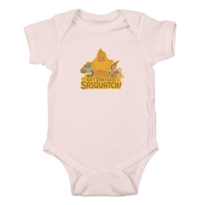 Get Dressed, Sasquatch! Kids Baby Bodysuit by Hazy Dell Press