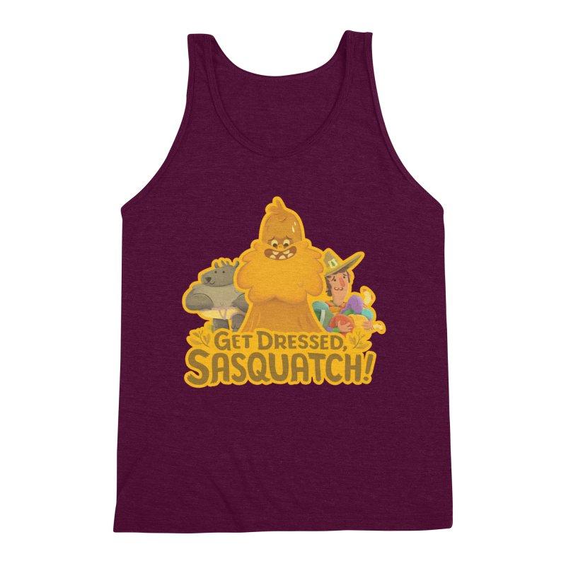 Get Dressed, Sasquatch! Men's Triblend Tank by Hazy Dell Press