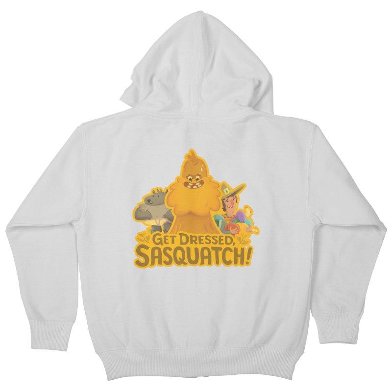 Get Dressed, Sasquatch! Kids Zip-Up Hoody by Hazy Dell Press