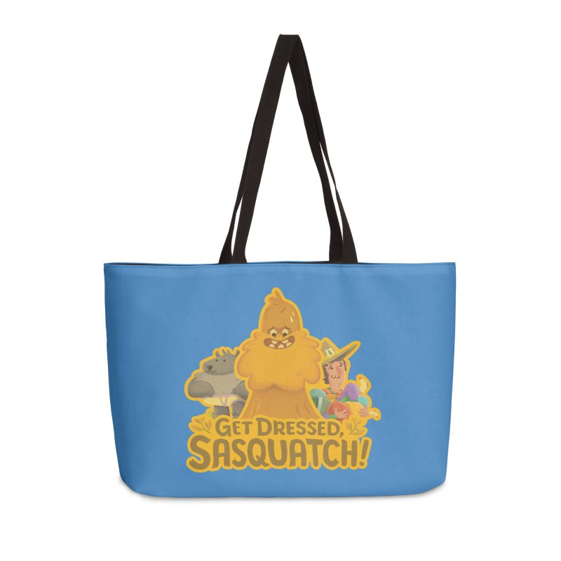 Get Dressed, Sasquatch! Accessories Weekender Bag Bag by Hazy Dell Press