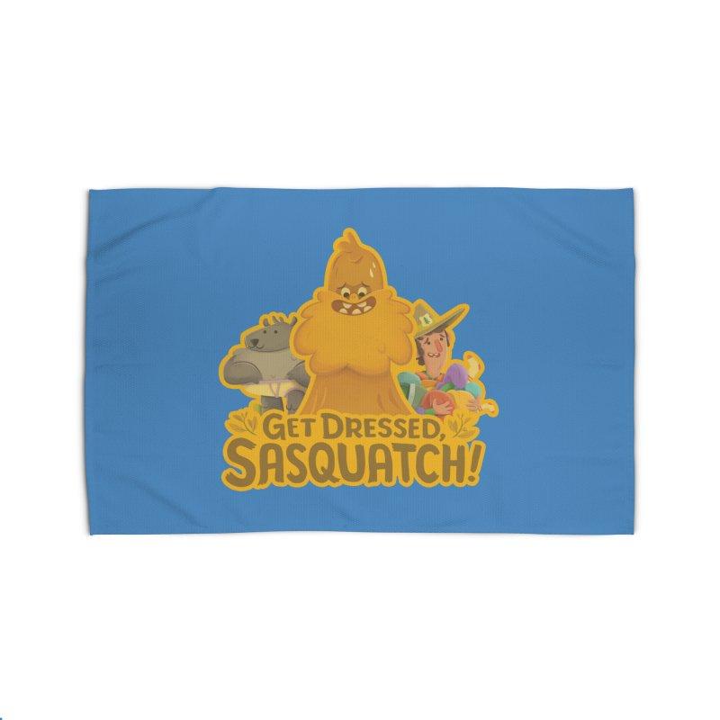 Get Dressed, Sasquatch! Home Rug by Hazy Dell Press